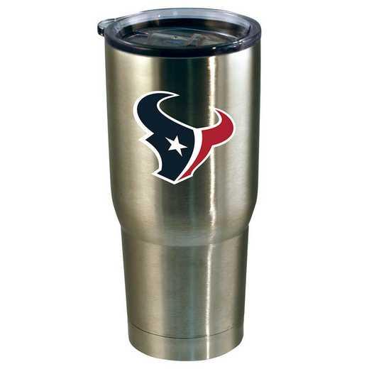 NFL-HTE-720101: 22oz Decal SS Tumbler Texans