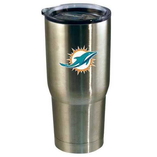NFL-MIA-720101: 22oz Decal SS Tumbler Dolphins