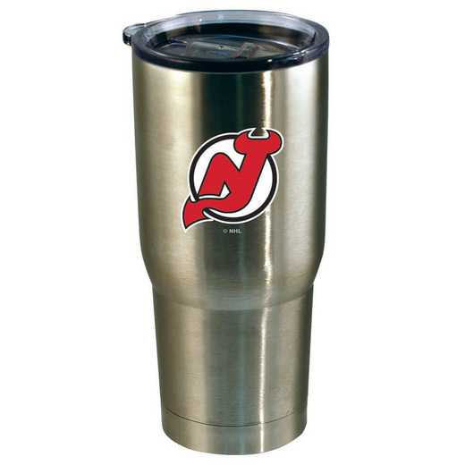 NHL-NJD-720101: 22oz Decal SS Tumbler Devils
