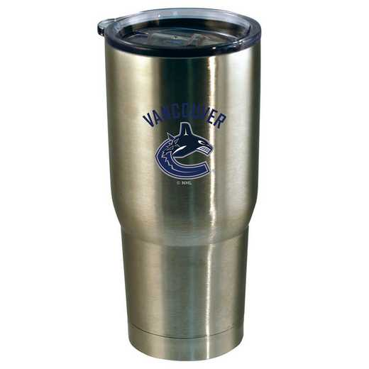 NHL-VCA-720101: 22oz Decal SS Tumbler Canucks