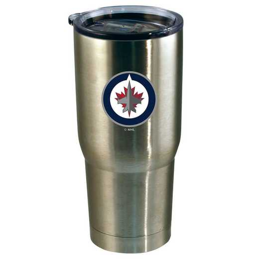 NHL-WPG-720101: 22oz Decal SS Tumbler Jets