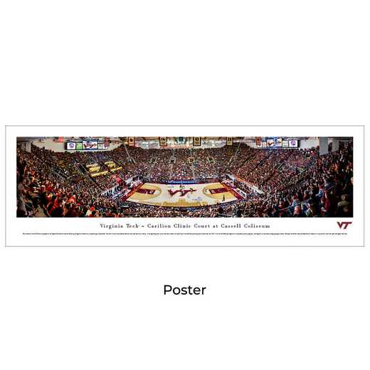 VAT5: BW Virginia Tech Hokies Basketball, Unframed