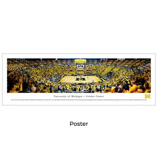 UMI7: BW Michigan Wolverines Basketball, Unframed