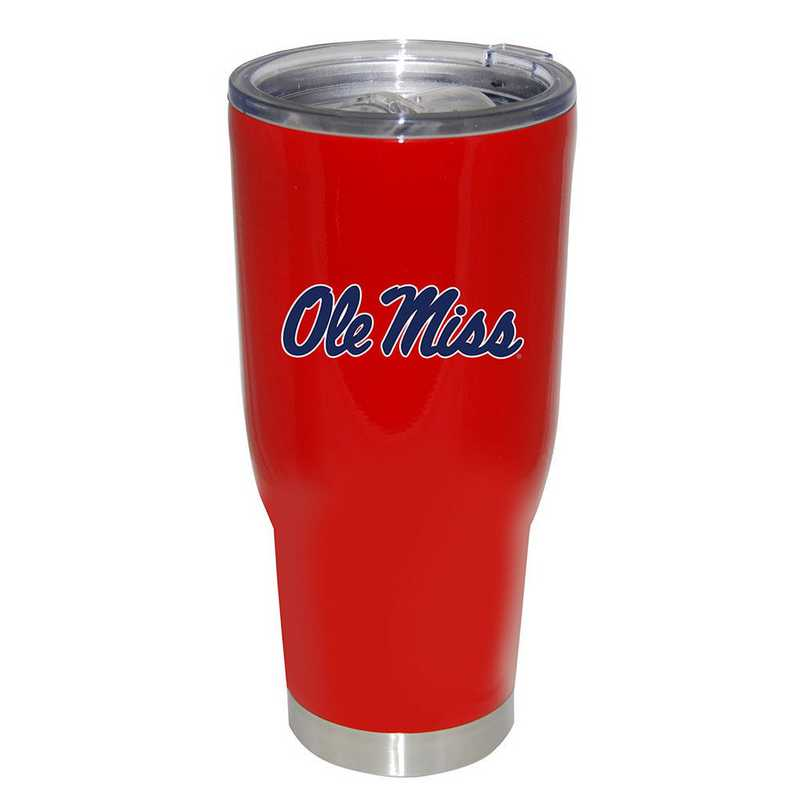 Ole Miss 32oz Stainless Steel Powder Coat Tumbler with Tritan Slider Lid