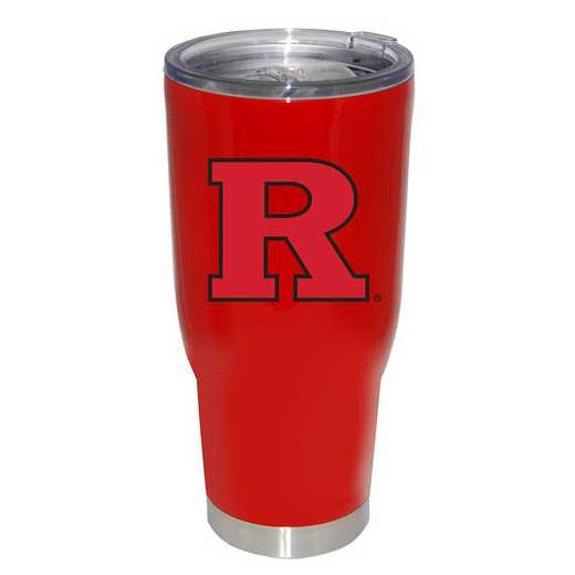 COL-RUT-750101: 32oz Decal PC SS Tumbler Rutgers