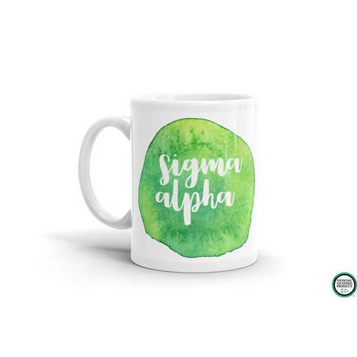 MG061: TS Sigma Alpha Water Color Coffee Mug