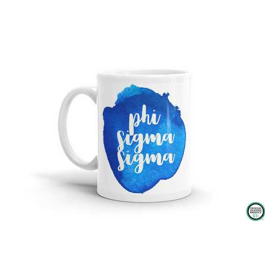 MG069: TS Phi Sigma Sigma Water Color Coffee Mug