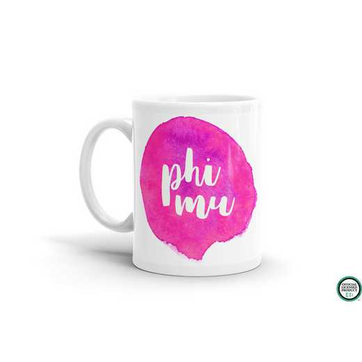 MG075: TS Phi Mu Water Color Coffee Mug