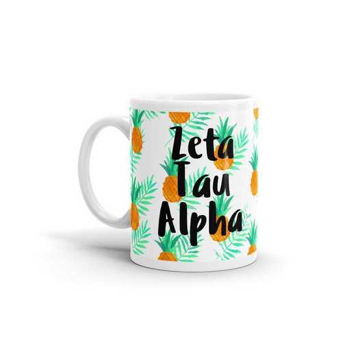 MG100: TS Zeta Tau Alpha All Over Pineapple Print Coffee Mug