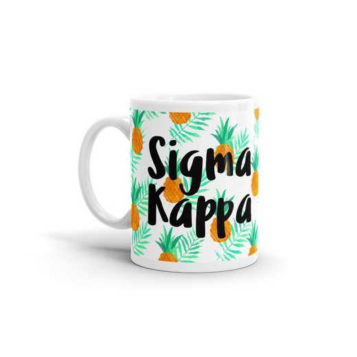 MG104: TS Sigma Kappa All Over Pineapple Print Coffee Mug