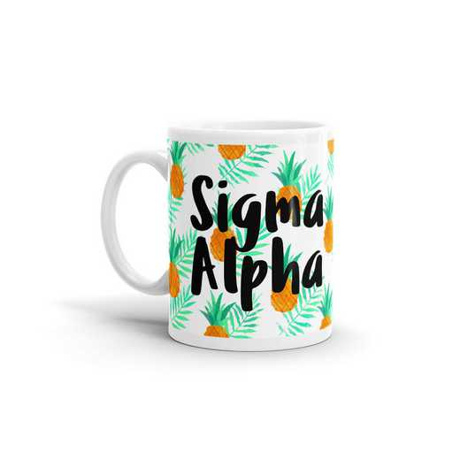 MG105: TS Sigma Alpha All Over Pineapple Print Coffee Mug