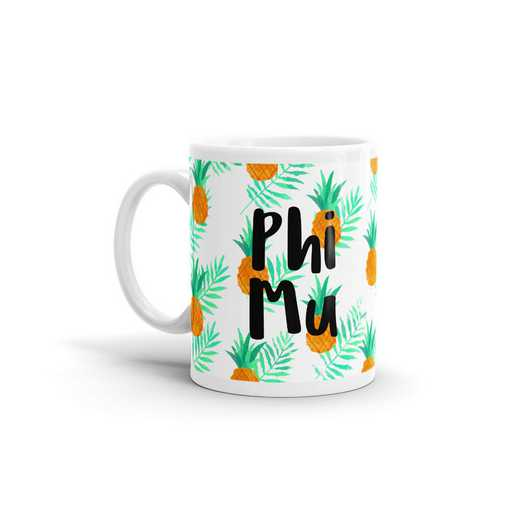 MG106: TS Phi Mu All Over Pineapple Print Coffee Mug