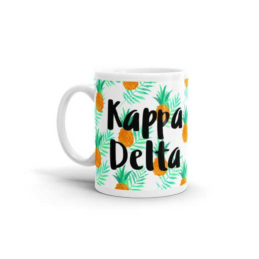 MG107: TS Kappa Delta All Over Pineapple Print Coffee Mug