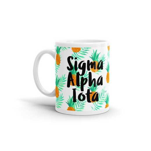 MG113: TS Sigma Alpha Iota All Over Pineapple Print Coffee Mug