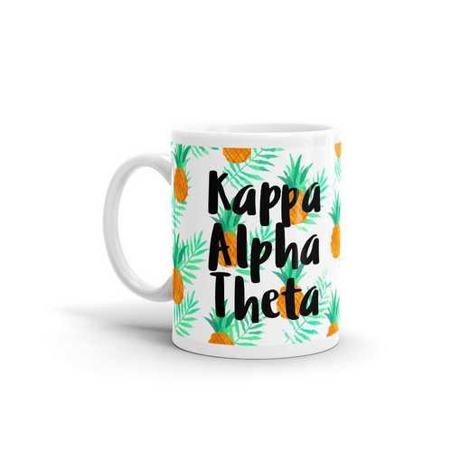 MG118: TS Kappa Alpha Theta All Over Pineapple Print Coffee Mug