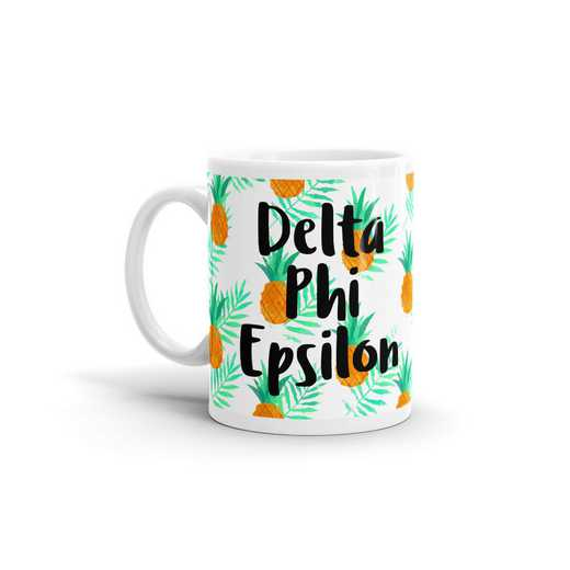 MG120: TS Delta Phi Epsilon All Over Pineapple Print Coffee Mug