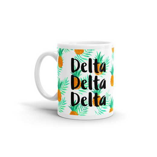 MG121: TS Delta Delta Delta All Over Pineapple Print Coffee Mug