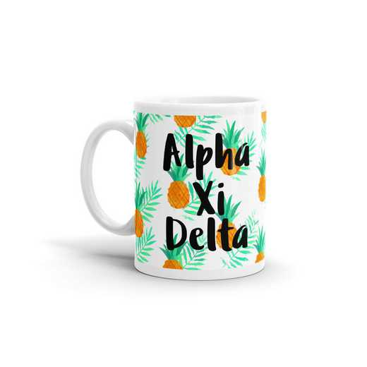MG122: TS Alpha Xi Delta All Over Pineapple Print Coffee Mug