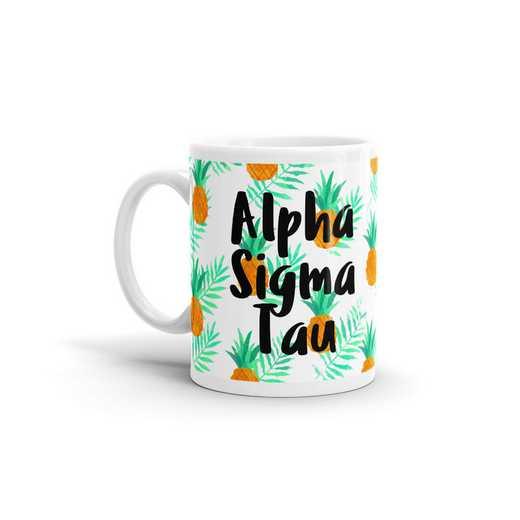 MG123: TS Alpha Sigma Tau All Over Pineapple Print Coffee Mug