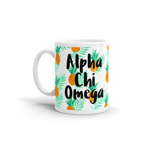 MG130: TS Alpha Chi Omega All Over Pineapple Print Coffee Mug