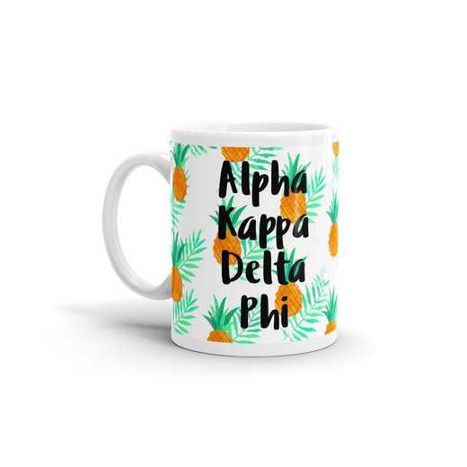MG131: TS alpha Kappa Delta Phi All Over Pineapple Print Coffee Mug