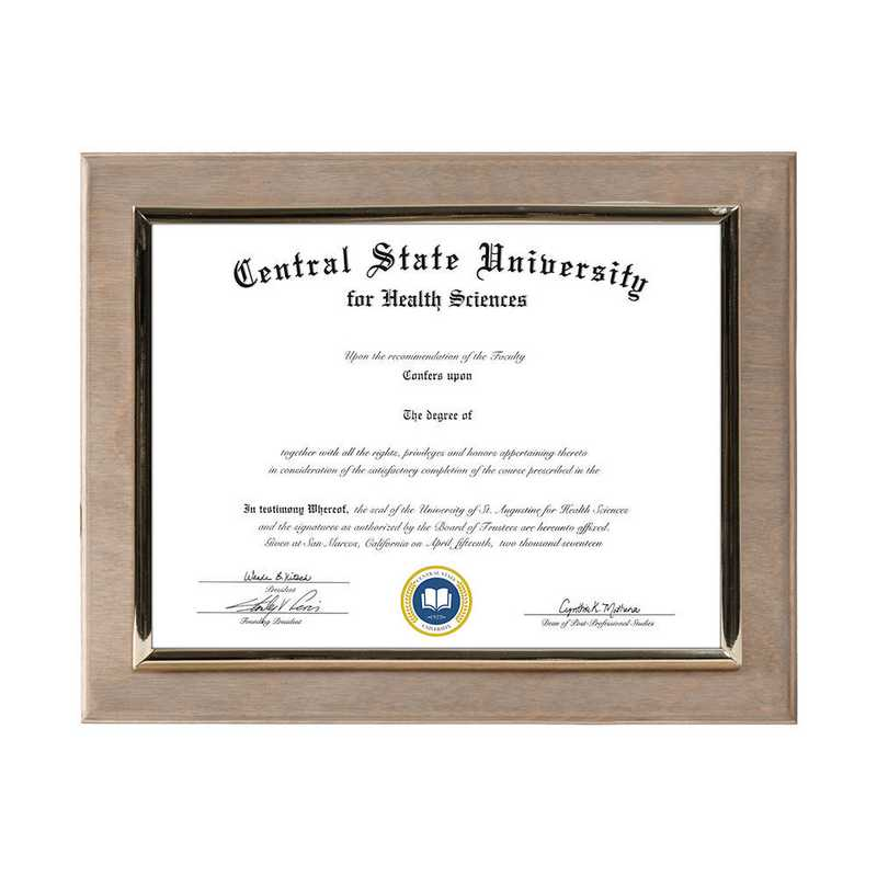 DM68-LWB2WO: Diploma Plaque Wall Mount Weathered Oak-6X8