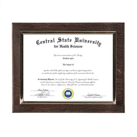 DM68-LWB2EX: Diploma Plaque Wall Mount Expresso-6X8