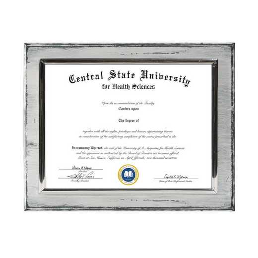 DM68-LWBWH: Diploma Plaque Wall Mount Whitewashed-6X8