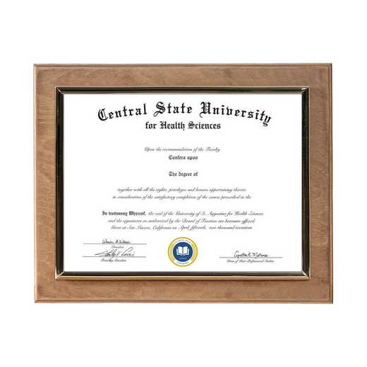 DM68-LWB2GO: Diploma Plaque Wall Mount Golden Oak-6X8