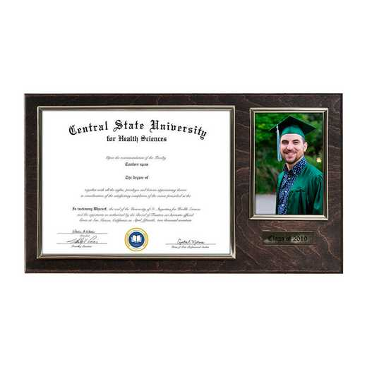 DM68-LWB5EX: Diploma Plaque Wall Mount w/4x6 Photo Expresso- 8.5X11