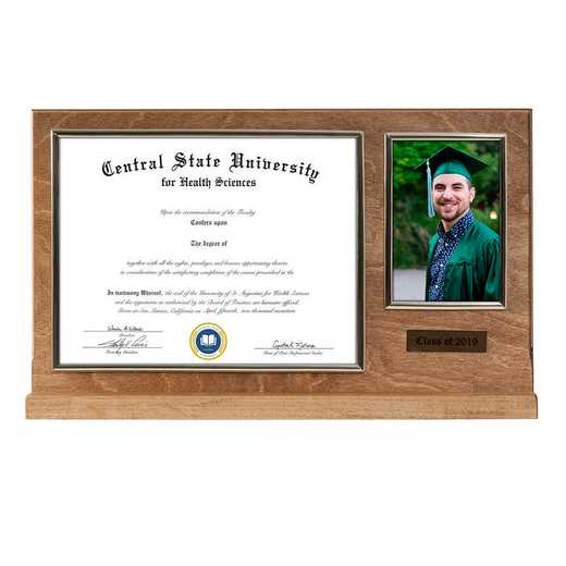 DM68-LWB5BGO: Diploma Plaque Stand 4x6 Photo Golden Oak 8.5X11