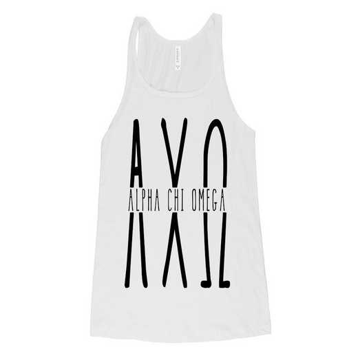 Alpha Chi Omega Tall Greek Letters Tank Top White