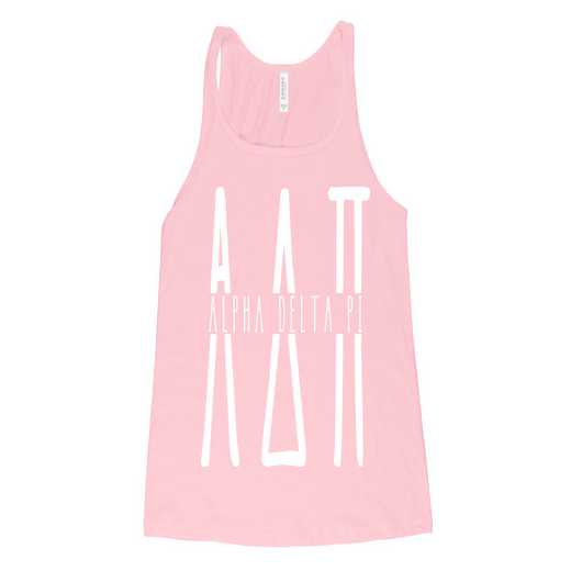 Alpha Delta Pi Tall Greek Letters Tank Tank Top Pink
