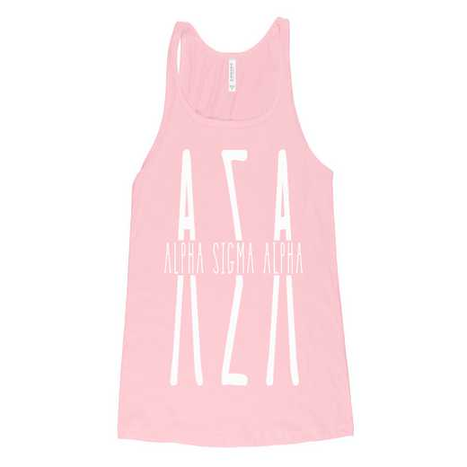 Alpha Sigma Alpha Tall Greek Letters Tank Tank Top Pink