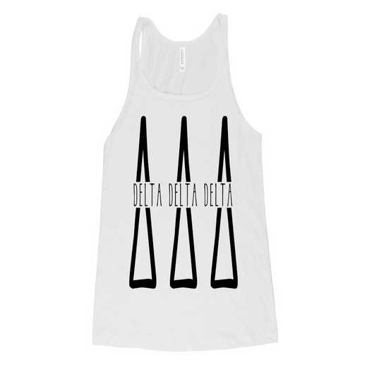 Delta Delta Delta Tall Greek Letters Tank Tank Top White