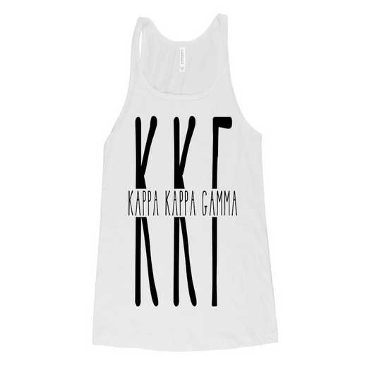 Kappa Kappa Gamma Tall Greek Letters Tank Tank Top White