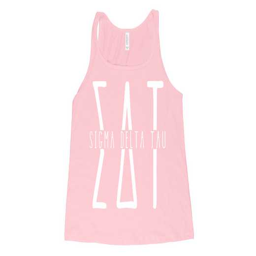 Alpha Delta Pi Tall Greek Letters  T-Shirt Soft Pink