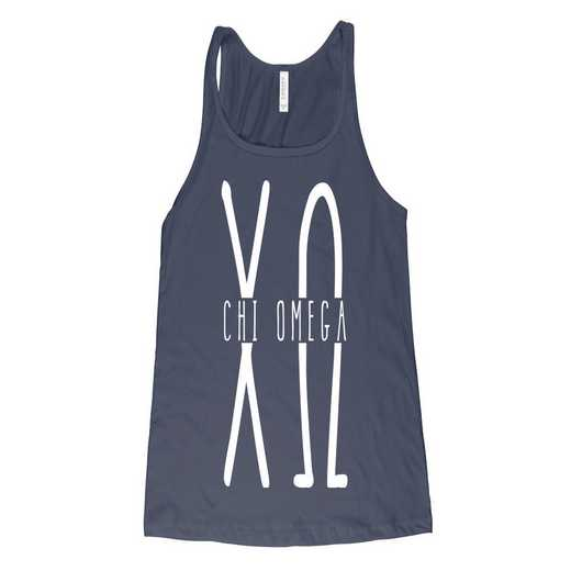 Chi Omega Tall Greek Letters Tank Tank Top Blue