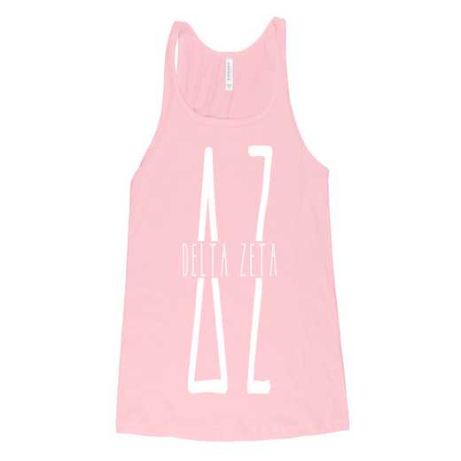 Delta Zeta Tall Greek Letters Tank Tank Top Pink