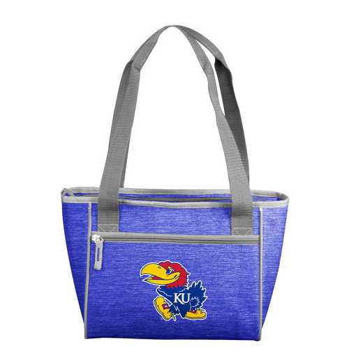 157-83-CR1: Kansas Crosshatch 16 Can Cooler Tote