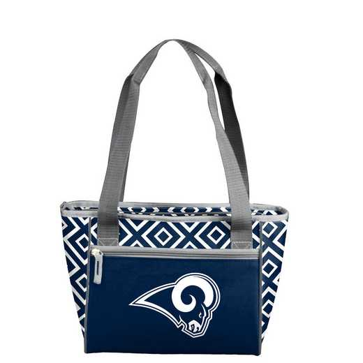 629-83DDM-1: LA Rams Navy/White Mavrik DD 16 Can Cooler Tote