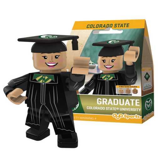 P-CFBCSUGF-G1GT: OYO GraduateFemale  OYO minifigureColorado State Rams