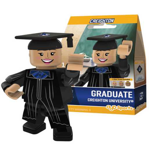 P-CFBCREGF-G1GT: OYO GraduateFemale  OYO minifigureCreighton Bluejays