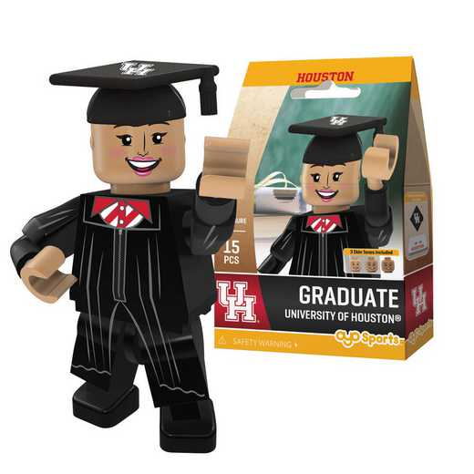 P-CFBHOUGF-G1GT: OYO GraduateFemale  OYO minifigureHouston Cougars