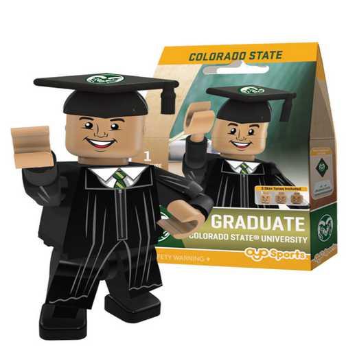P-CFBCSUGM-G1GT: OYO GraduateMale Graduate OYO minifigureColorado State Rams