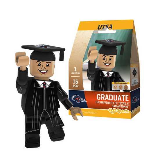 P-CFBTESGM-G1GT: OYO GraduateMale Graduate OYO minifigureUTSA Roadrunners