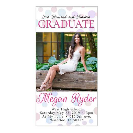 Congrats Confetti 4 x 8 Graduation Photo Card