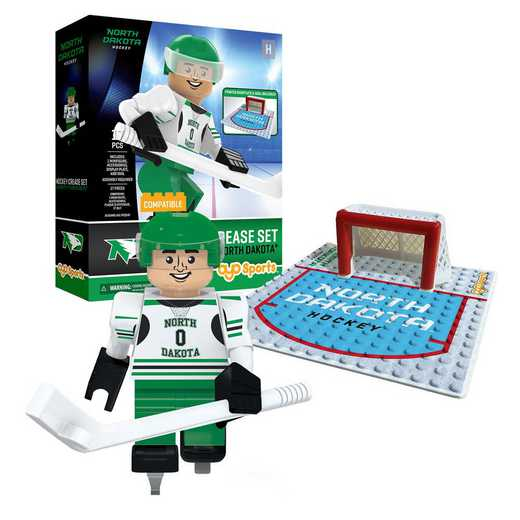 P-CHKUNDPS1-G1PS: Crease SetNorth Dakota Fighting HawksBuilding Block Play Set