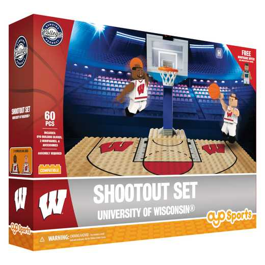 P-NCAAWISFS1-G1FB: Official TeamShootout SetWisconsin Badgers