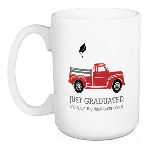 5474-K: DD JUST GRADUATED TRUCK MUG